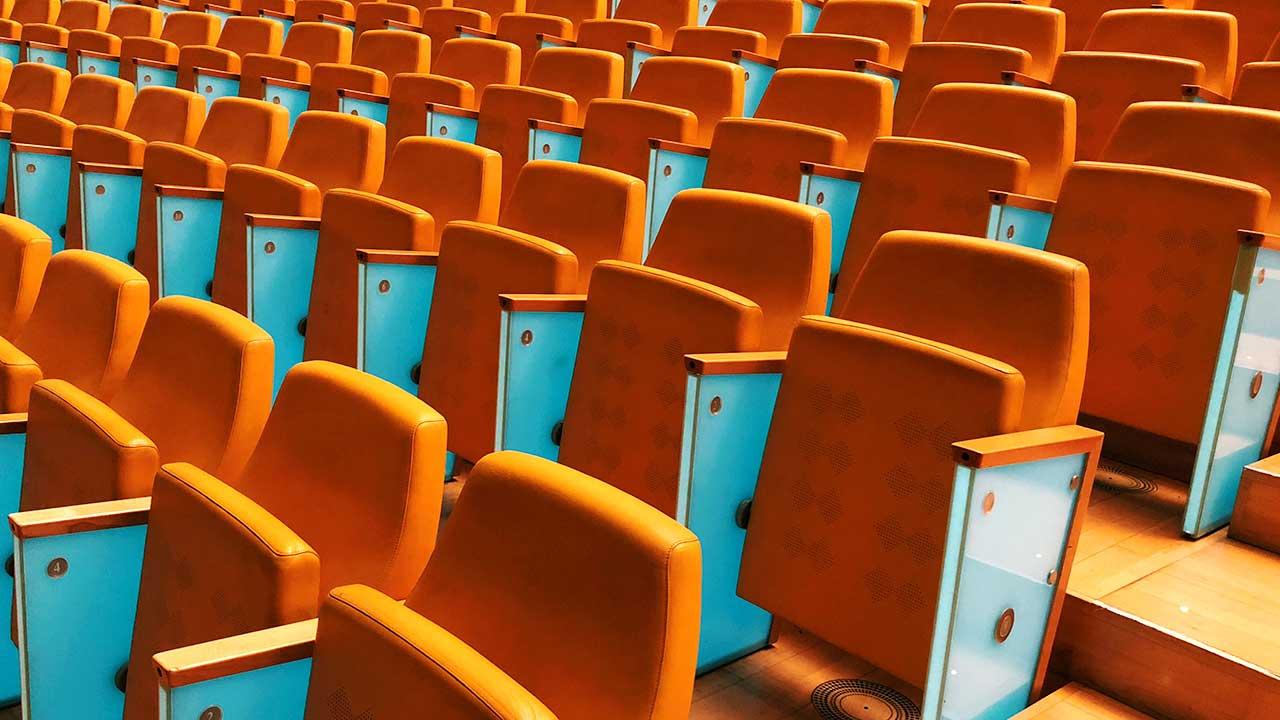 Leerer Konzertsaal in Valencia, Spanien
