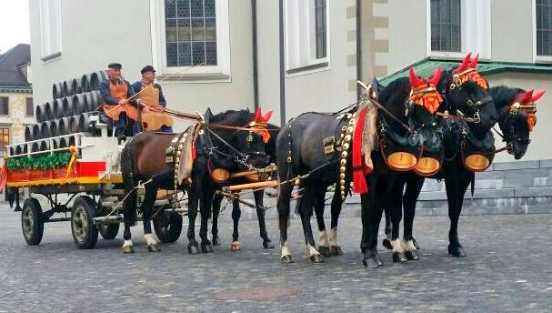 Pferdegespann à la 16. Jahrhundert in der St. Galler Altstadt (c) www.ref500-sg.ch