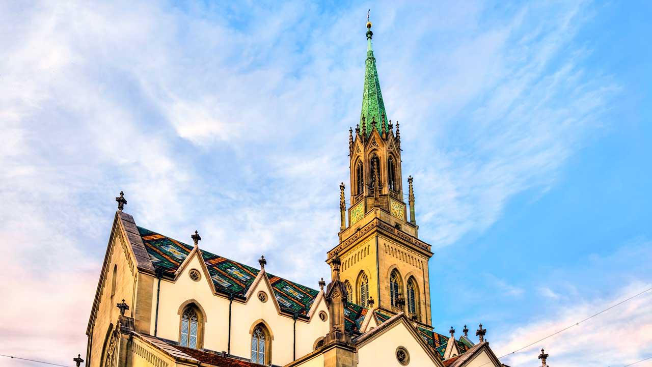 Oberer Teil der reformierten Kirche St. Laurenzen in St. Gallen
