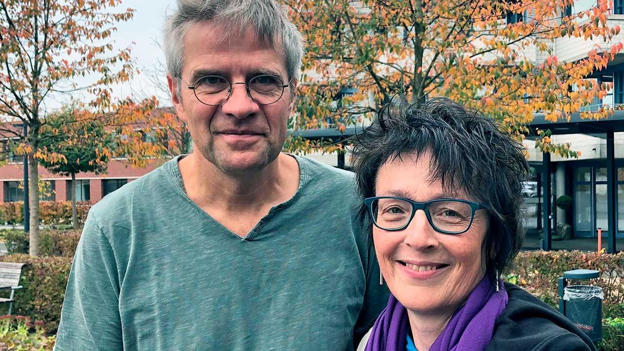 Peter Schwab und Maria Weber vom «TrauerCafé» in Sumiswald