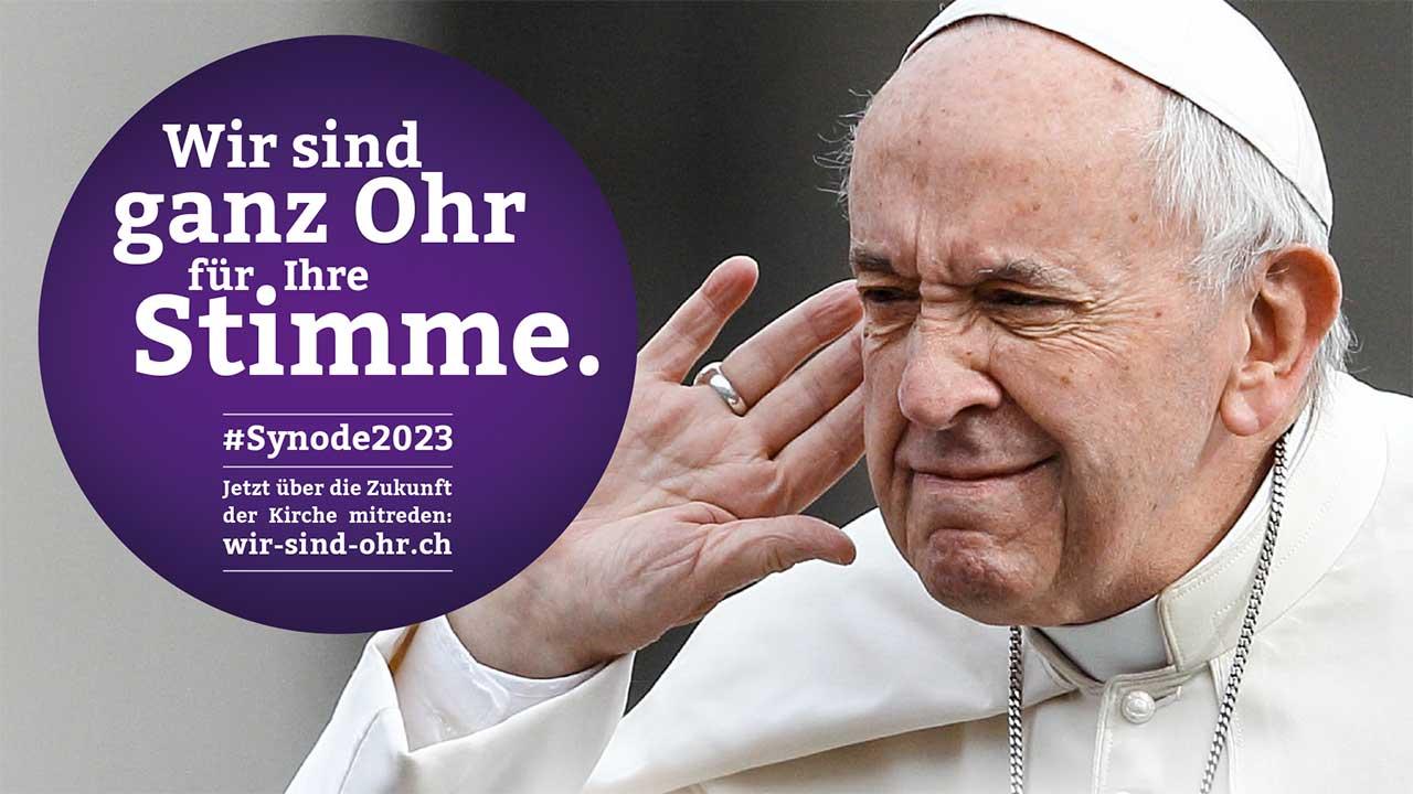 Themenbild des synodalen Wegs «Wir sind Ohr»