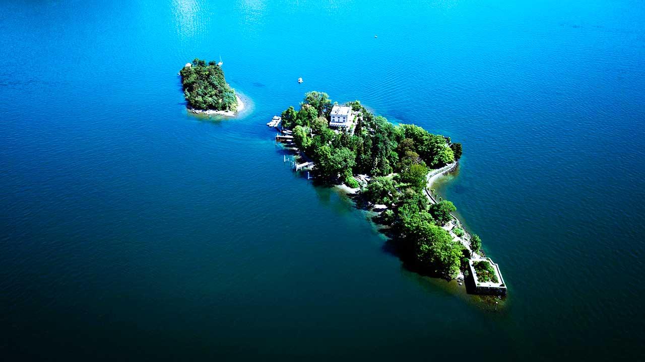 Brissago-Inseln aus der Vogelperspektive