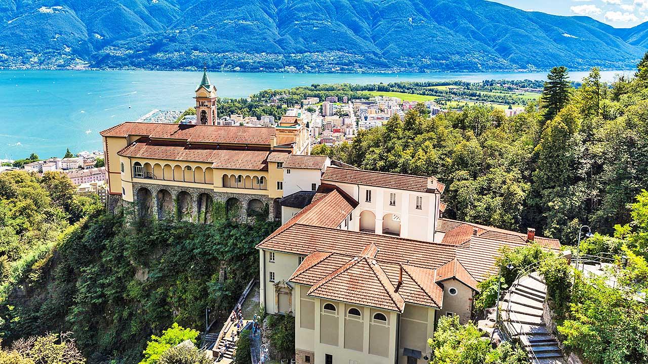 Kirche Madonne del Sasso oberhalb von Locarno