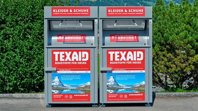 Kleidercontainer von Texaid