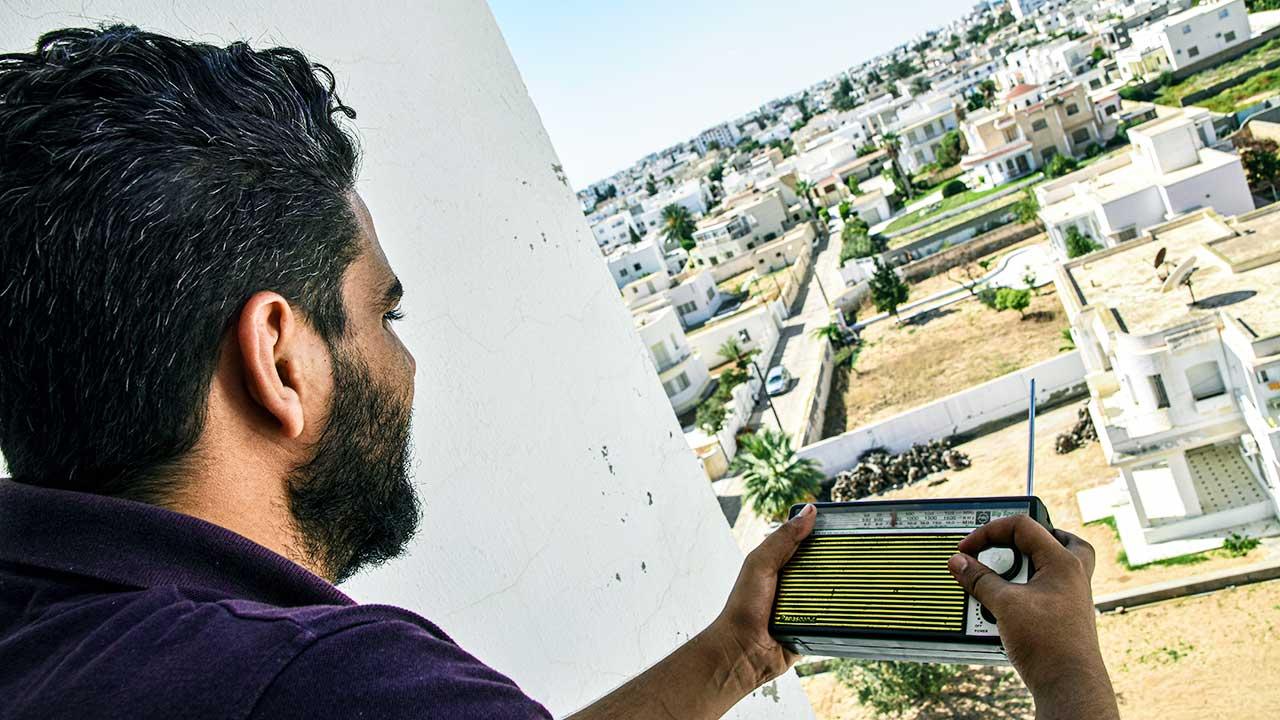 Radiohörer in Tunesien