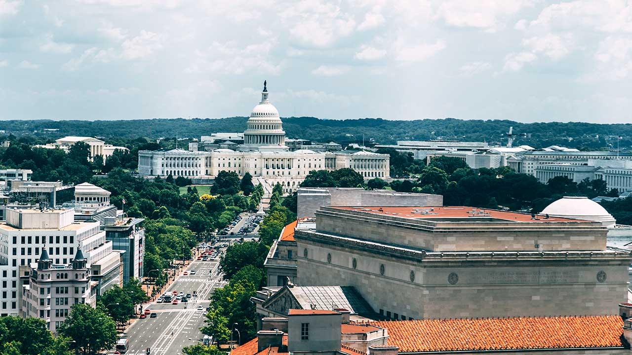 Washington DC mit Capitol
