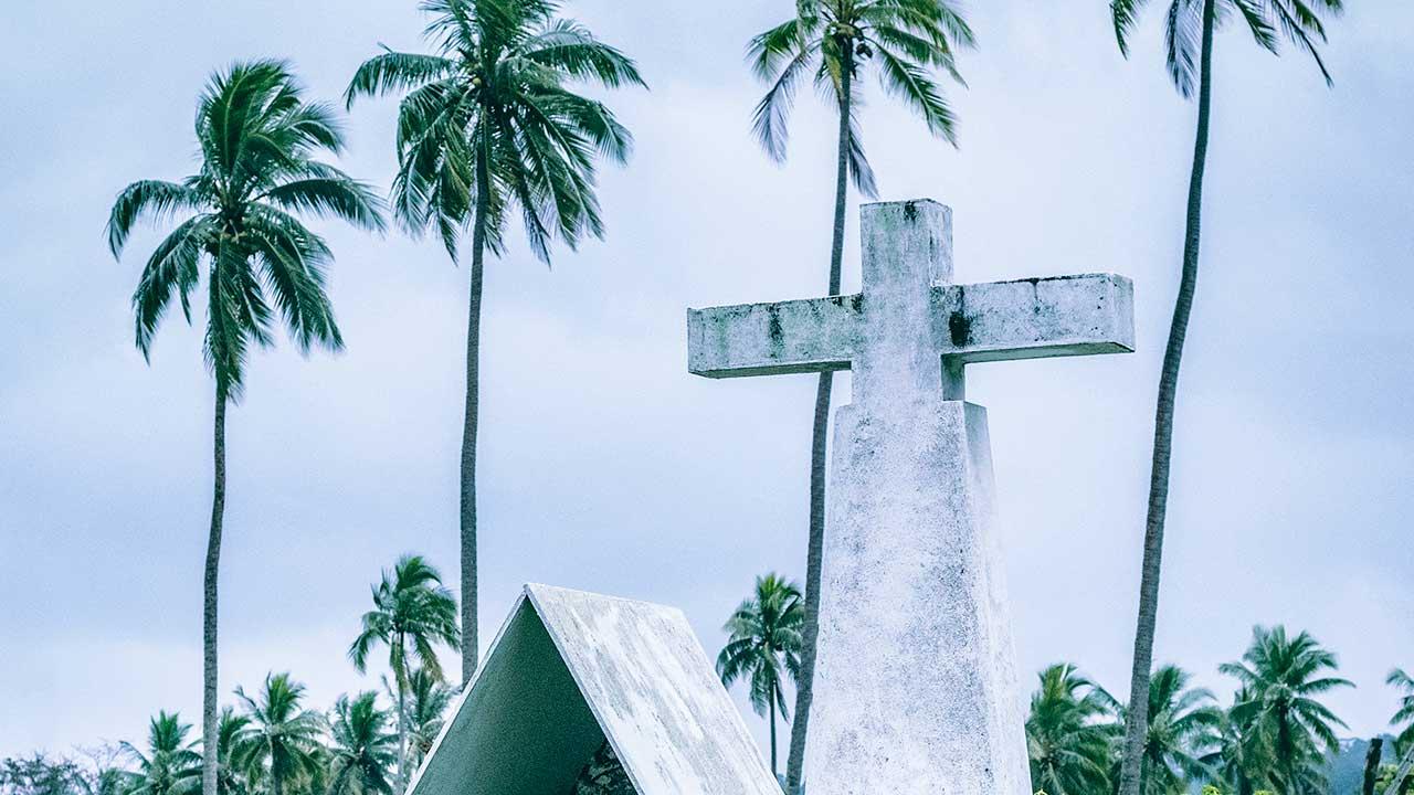 Kreuz in Port Olry, Vanuatu