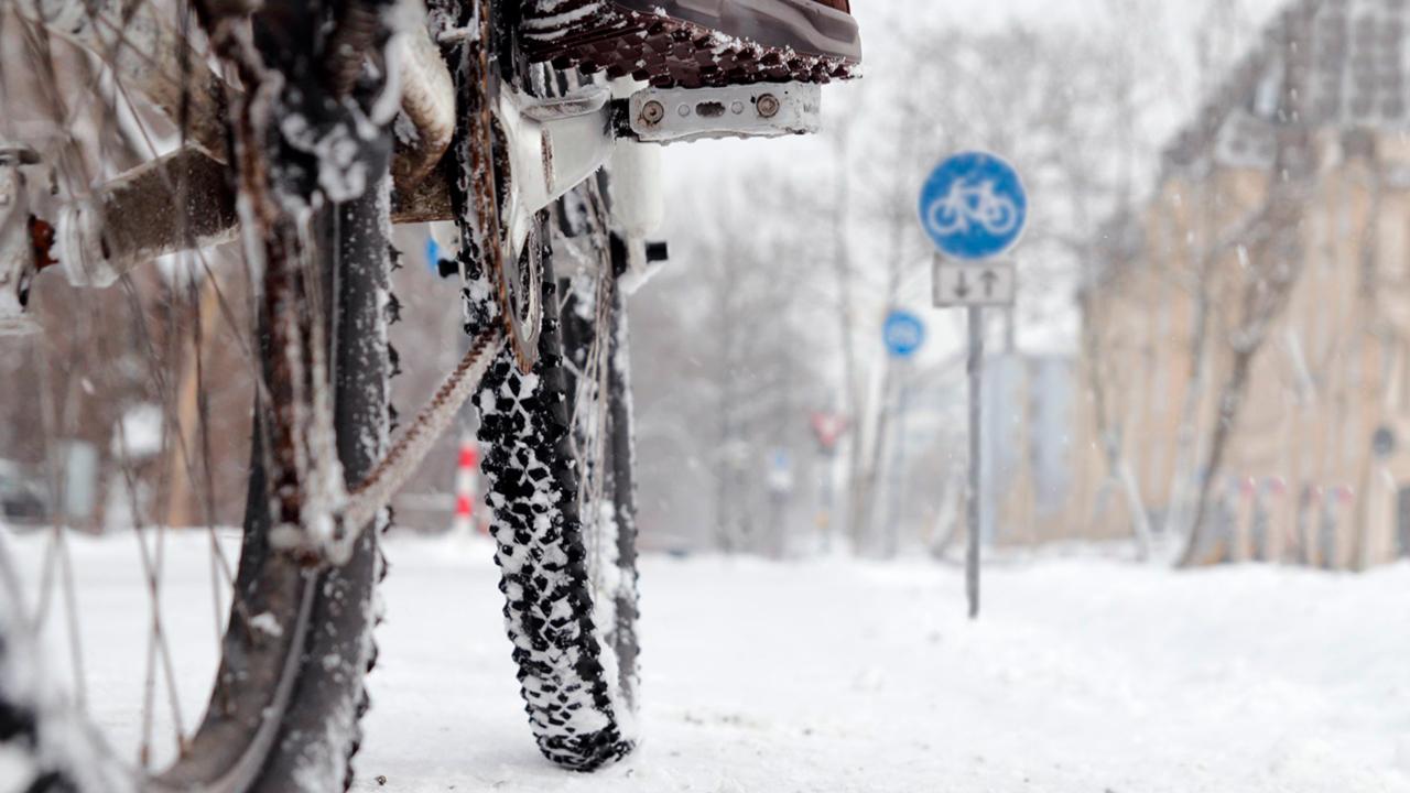 Auch im Winter Velo fahren