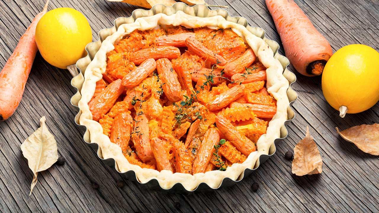 Wähe mit Karotten und Kürbis