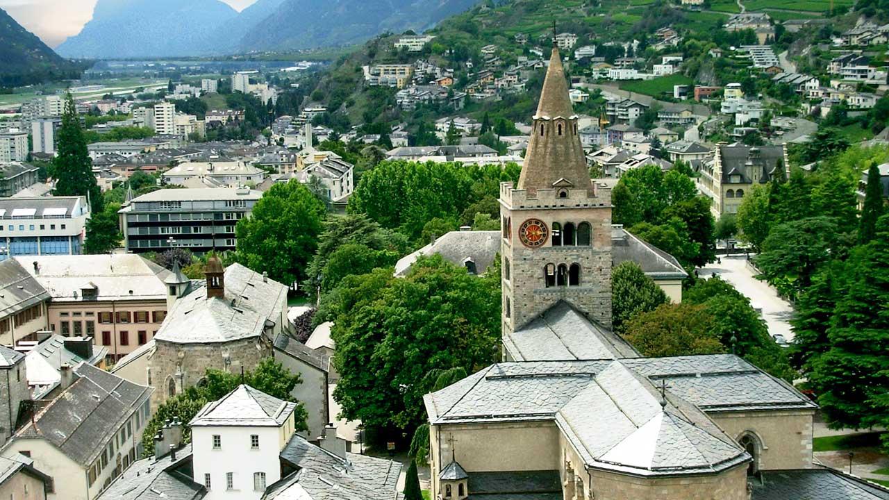 Altstadt von Sion mit Kathedrale