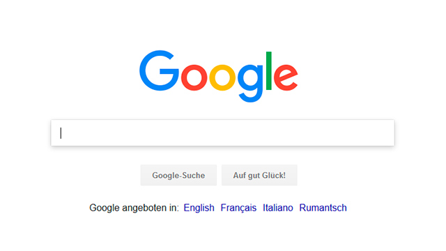 Eingabefeld von Google: Auf der Suche nach ...