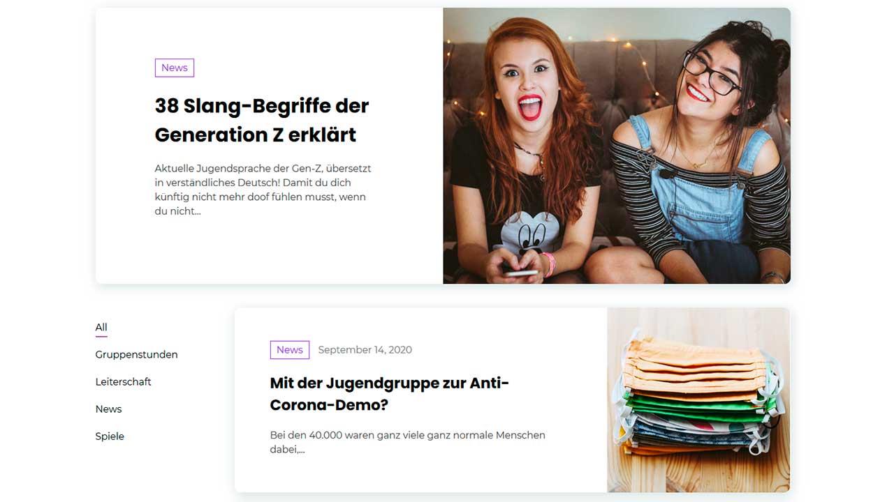 Website «Mr. Jugendarbeit»
