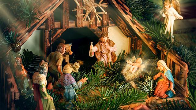 Weihnachtlicher Stall