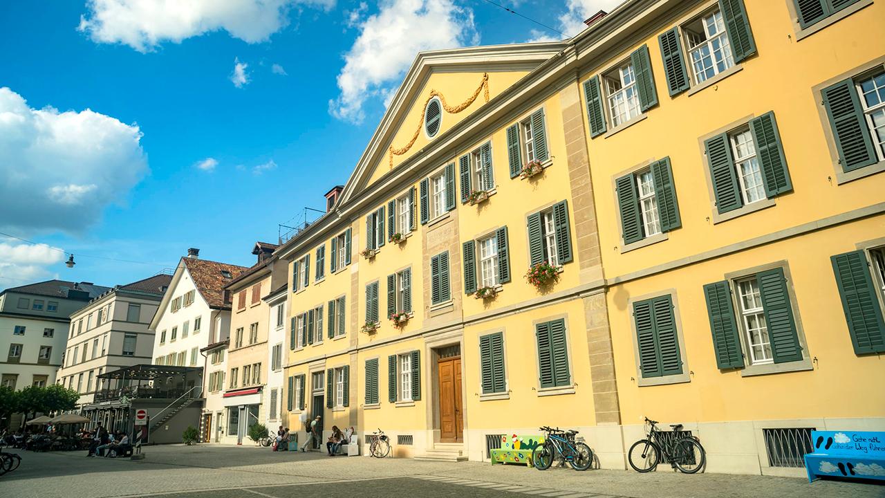 In der Altstadt von Winterthur
