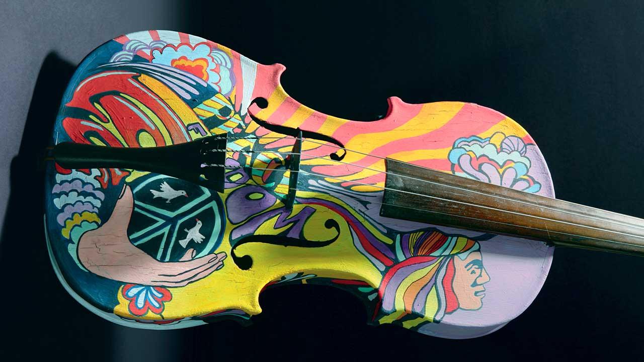 Bunte, mehrfarbige Geige