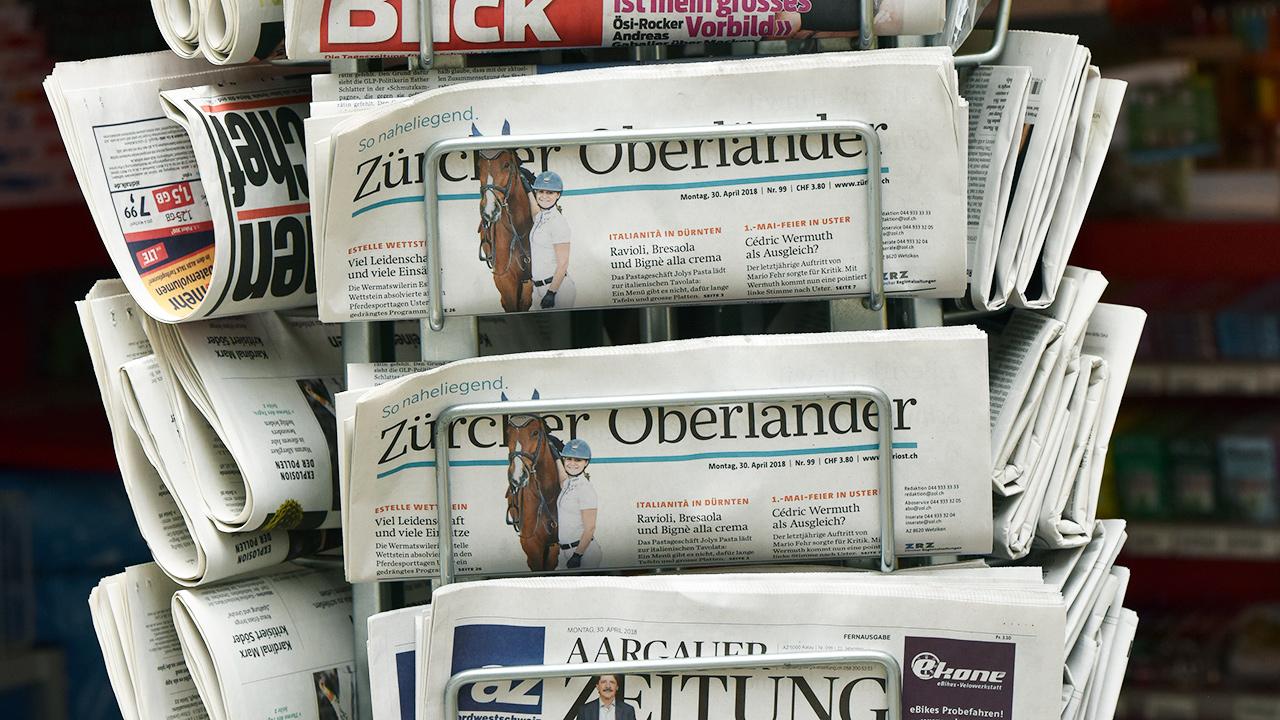 Zeitungsständer in Zürich