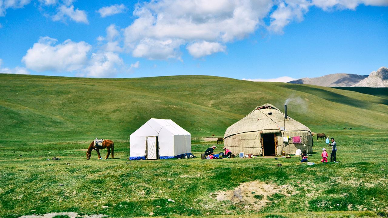 Zelte in Zentralasien