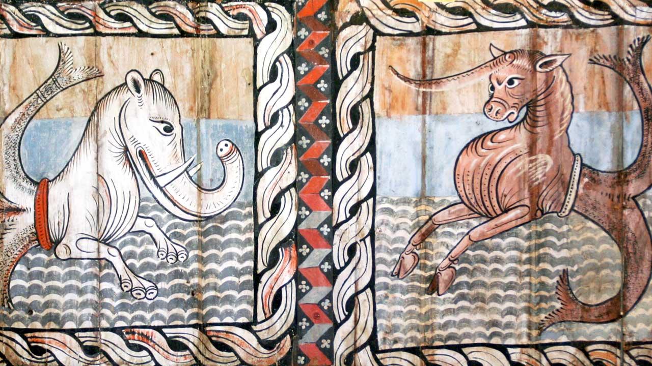 Deckengemälde der Kirche St. Martin in Zillis GR