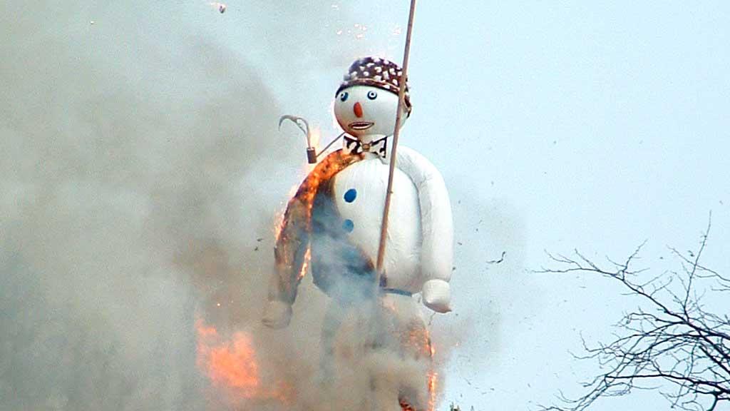 Der brennende Böögg am Sechseläuten 2005