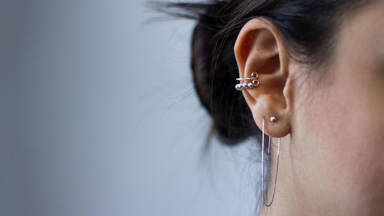 Das Ohr einer Frau