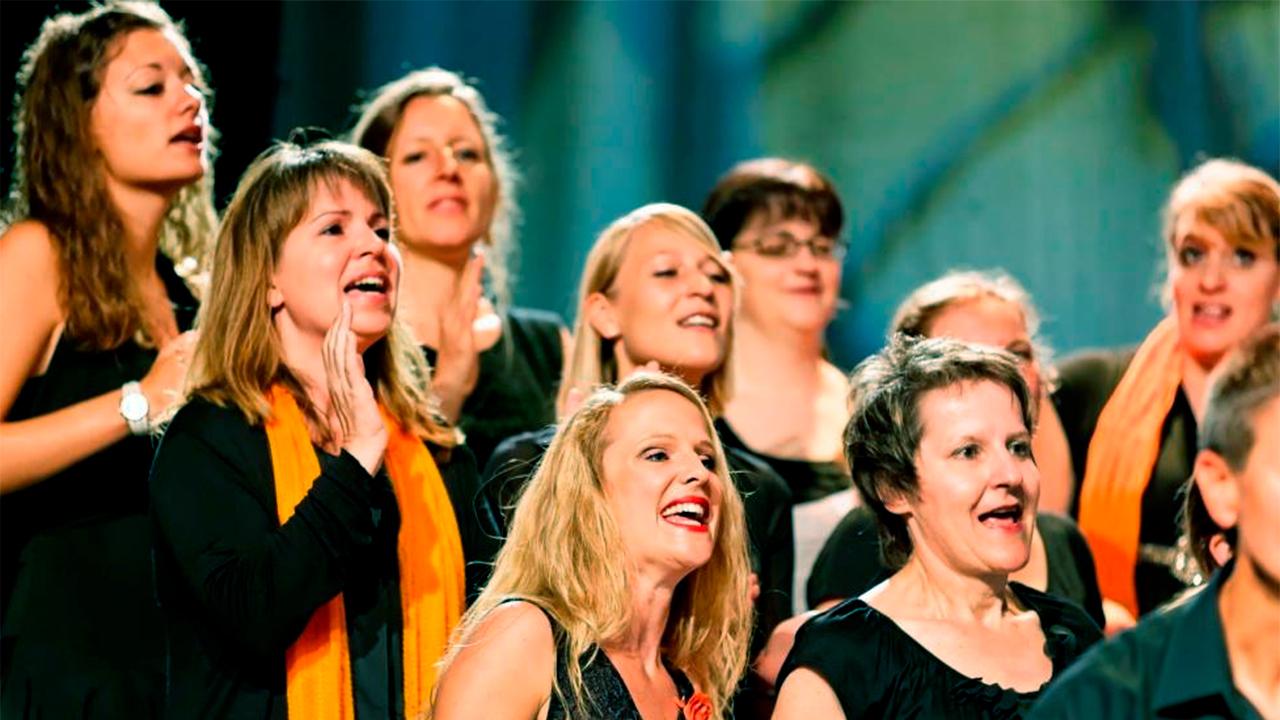 Sängerinnen am «cantars – Kirchenklangfest 2015»