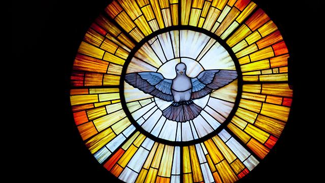 Taube auf Glasmalerei | (c) 123rf