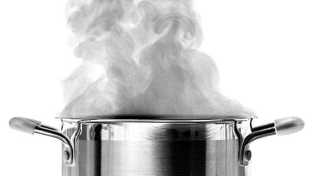 Dampf in der Küche