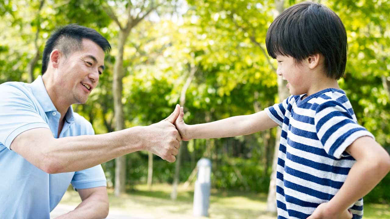 Harmonie zwischen Vater und Sohn