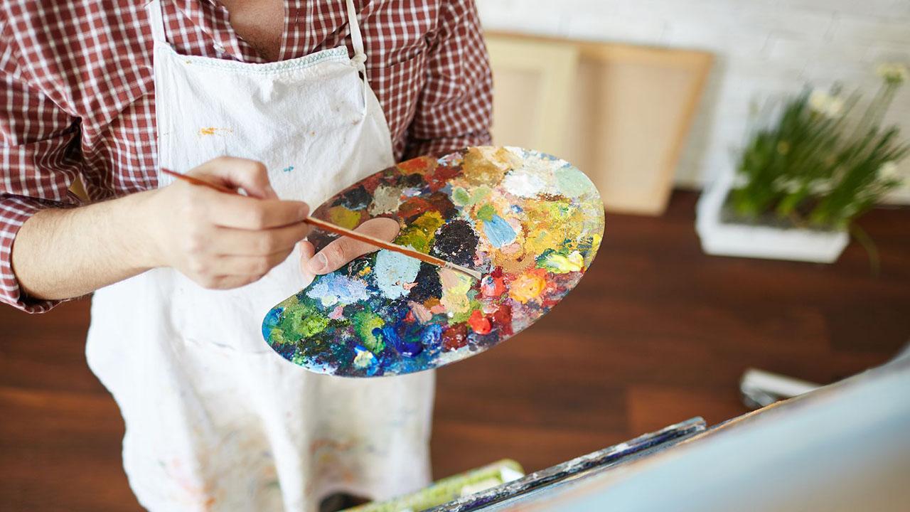 Farbpalette eines Malers   (c) 123rf