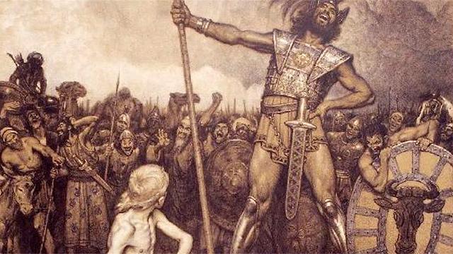 Bild «David und Goliath» von Osmar Schindler