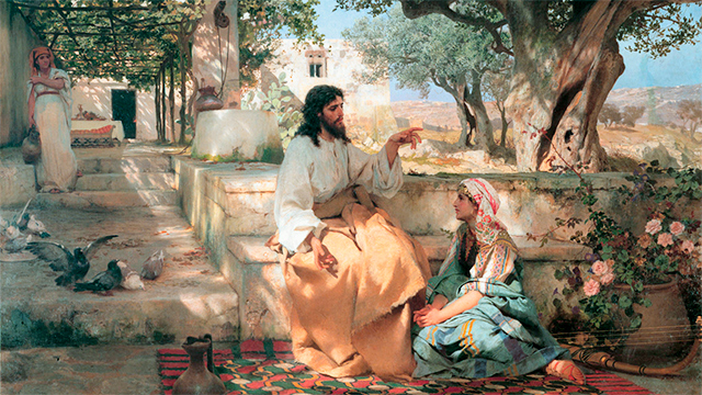 Bild «Christ with Martha and Maria» von Henryk Siemiradzki