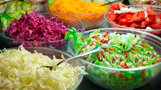 Büffett mit Salaten