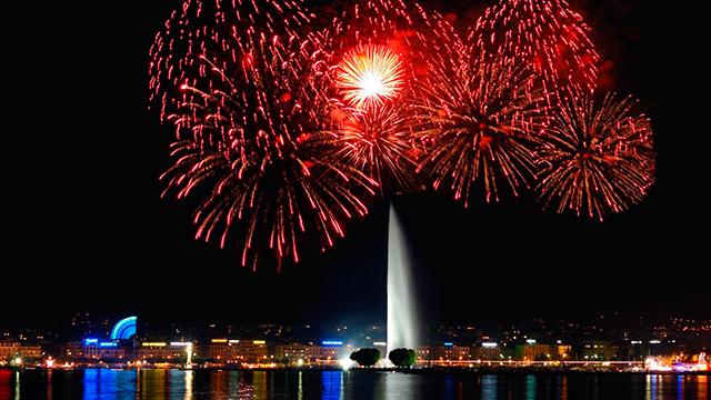 Feuerwerk in Genf