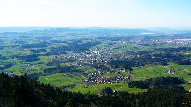 Zürcher Oberland vom Bachtel aus