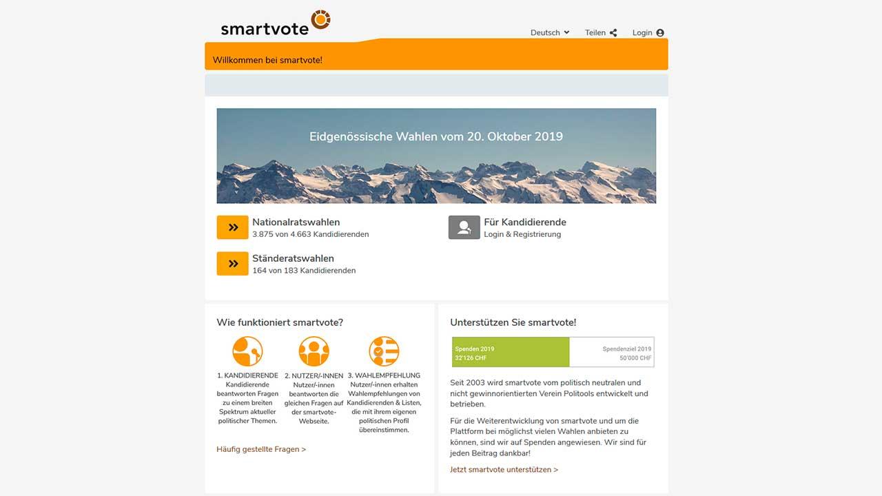 Website smartvote.ch