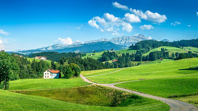 Appenzellerland mit Säntis