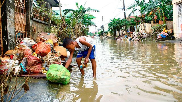 Hochwasser nach Sturm