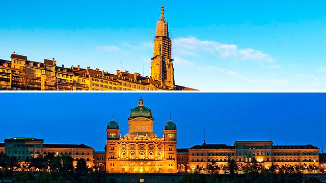 Münster und Bundeshaus in Bern