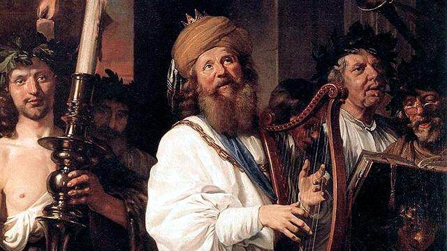 Bild «David Playing the Harp» von Jan de Bray