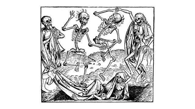 «Tanz der Gerippe» von Michael Wolgemut (15. Jahrhundert)