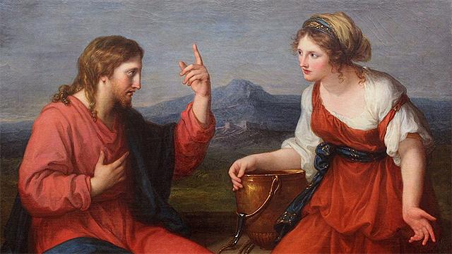 Jesus und Samariterin (Gemälde von Angelika Kauffmann)