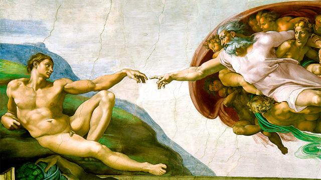 Bild «Erschaffung Adams» von Michelangelo