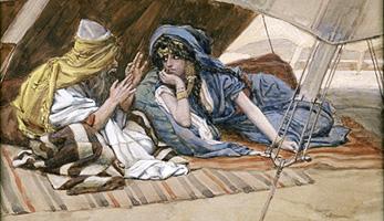 Abraham und Sarah von James Tissot