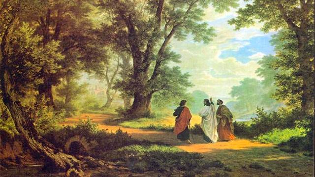 «Der Gang nach Emmaus» von Robert Zünd