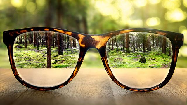 Brille schärft Sicht