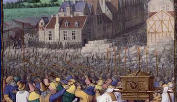 © Wikipedia: Mauerfall von Jericho von Jean Fouquet