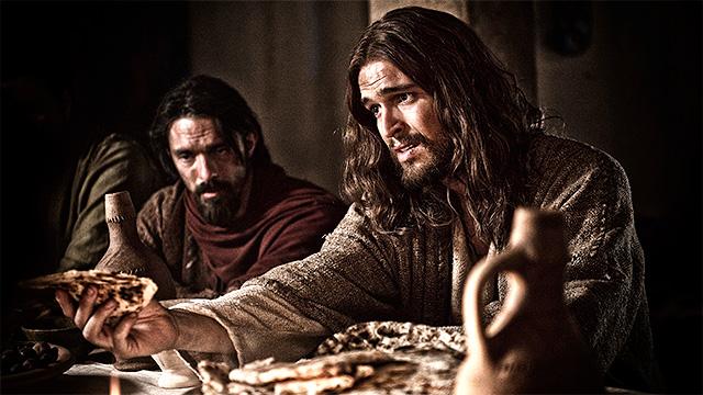 Jesus und seine Jünger beim Abendmahl