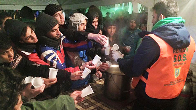 Flüchtlinge in Serbien