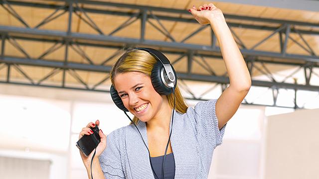 Begeisterte Hörerin