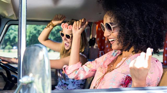 Freude im Auto